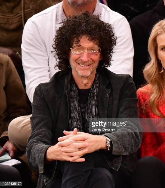 Howard Stern attends the New York Knicks vs Atlanta Hawks game at Madison Square Garden on October 17 2018 in New York City