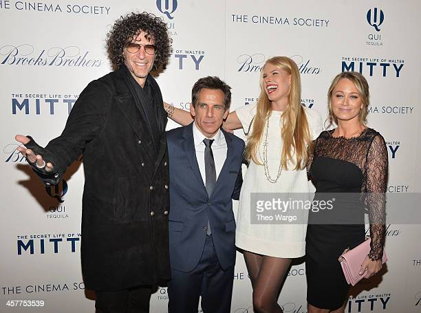Howard Stern Ben Stiller Beth Ostrosky Stern and Christine Taylor attend the 20th Century Fox with The Cinema Society Brooks Brothers screening of...