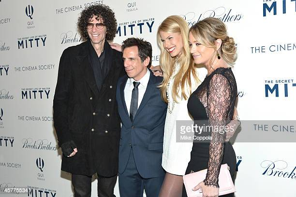 Howard Stern, Ben Stiller, Beth Ostrosky Stern and Christine Taylor attend the 20th Century Fox with The Cinema Society & Brooks Brothers screening...