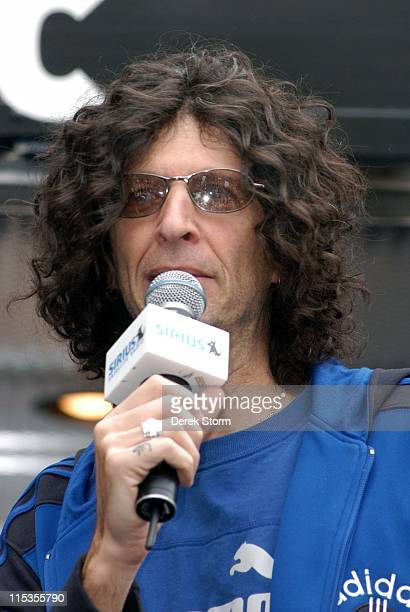 Howard Stern during Howard Stern and his Crew Invade Union Square to Promote Sirius Satellite Radio at Union Square in New York City New York United...