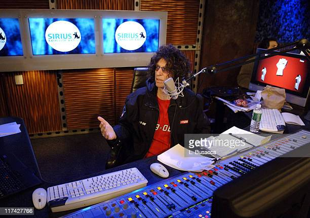 Howard Stern during Howard Stern Makes History Launches His Show Exclusively on Sirius Satellite Radio January 9 2006 at Sirius Satellite Radio in...