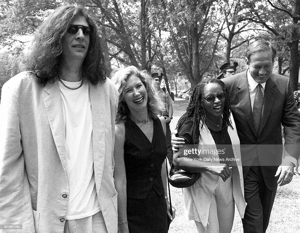 Howard Stern, his wife, Allison; his talk show co-host, Robi : News Photo