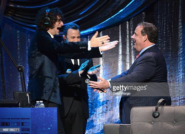 Howard Stern Jimmy Kimmel and New Jersey Governor Chris Christie attend 'Howard Stern's Birthday Bash' presented by SiriusXM produced by Howard Stern...