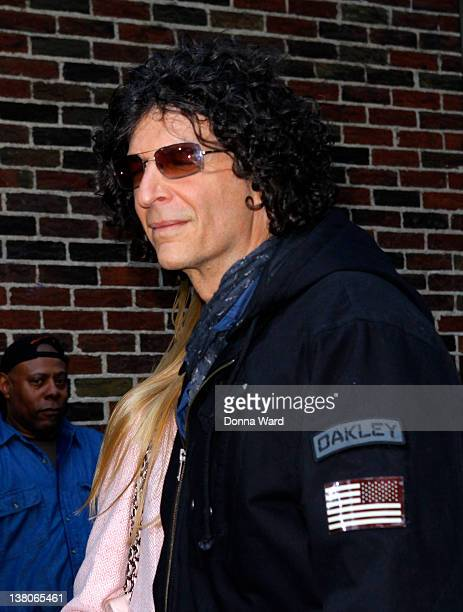 Howard Stern leaves The Late Show with David Letterman at Ed Sullivan Theater on February 1 2012 in New York City