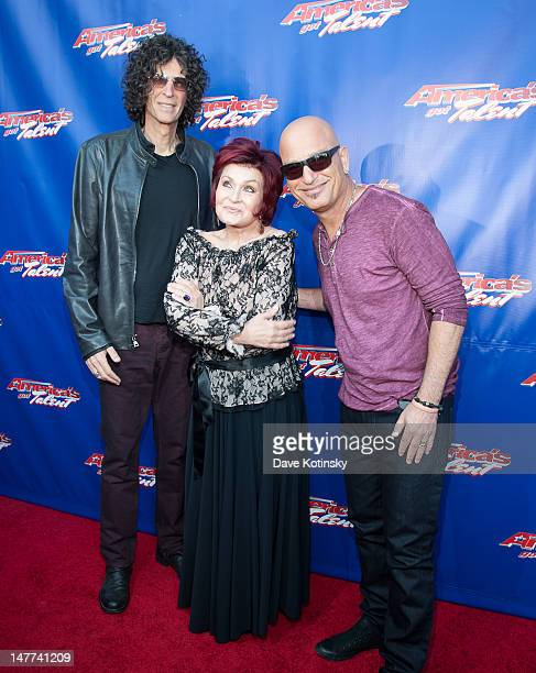 Howard Stern Sharon Osbourne and Howie Mandel attend America's Got Talent Live Show at New Jersey Performing Arts Center on July 2 2012 in Newark New...
