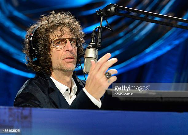 Howard Stern speaks onstage at Howard Stern's Birthday Bash presented by SiriusXM produced by Howard Stern Productions at Hammerstein Ballroom on...