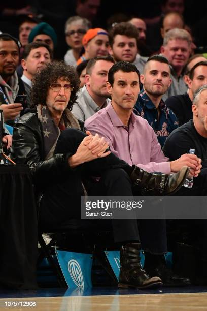 Howard Stern takes in the New York Knicks game against Milwaukee Bucks at Madison Square Garden on December 01 2018 in New York City NOTE TO USER...