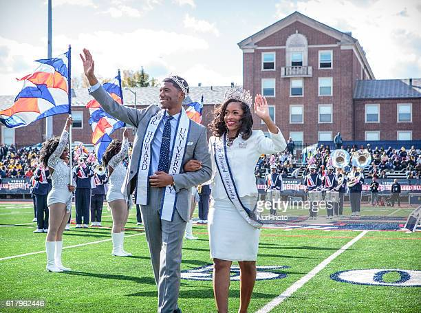 Howard University's marching band performs as the school's Royal Court Jalen Saunders Mr Howard University 20162017 junior Biology major from Queens...