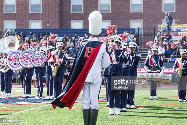 Howard University's marching band performs during halftime of their 93rd annual Homecoming game against North Carolina AampT on Saturday October 22...