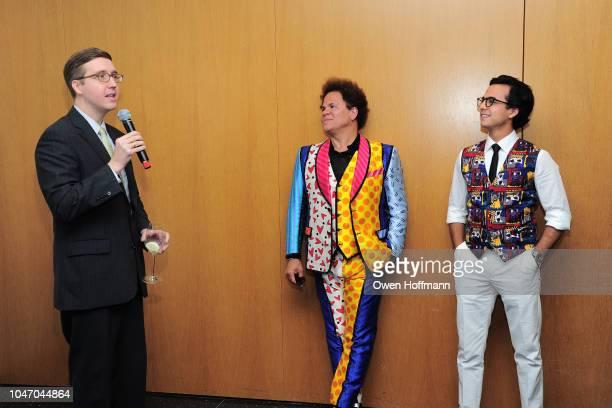 Howard Warren Buffett Romero Britto and Dr Lucas Vidal attends Birthday Of Romero Britto Madeleine Arison Howard Buffett And Dr Lucas Vidal at The...