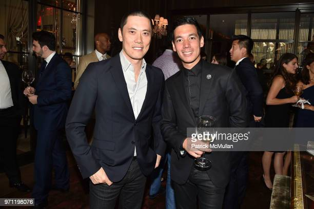 Howard Yung and Matthieu Yamoum attend Christopher R King Debuts New Luxury Brand CCCXXXIII at Baccarat Hotel on June 5 2018 in New York City