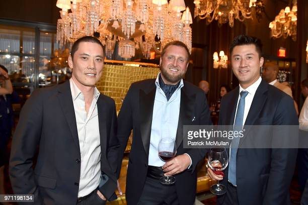 Howard Yung Christopher King and Randall Shu attend Christopher R King Debuts New Luxury Brand CCCXXXIII at Baccarat Hotel on June 5 2018 in New York...