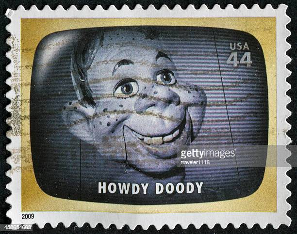 howdy doody stamp - ventriloquist stock photos and pictures