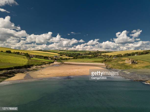 howe strand near kinsale, ireland - county cork stock pictures, royalty-free photos & images