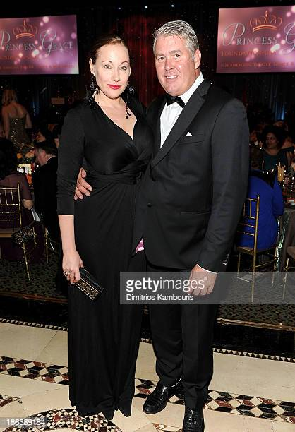 Howell Caldwell and guest attend the 2013 Princess Grace Awards Gala at Cipriani 42nd Street on October 30 2013 in New York City