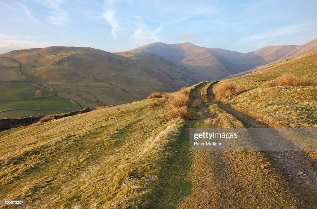 Howgill Fells and track : Stock Photo
