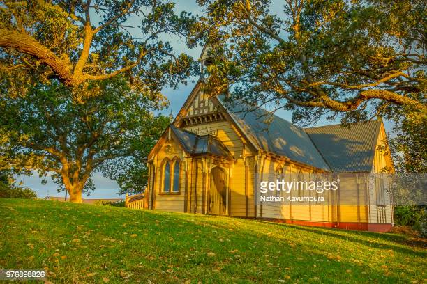 howick presbyterian church - howick new zealand stock photos and pictures