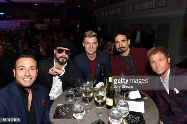 Howie Dorough AJ McLean Nick Carter Kevin Richardson and Brian Littrell of the Backstreet Boys attend the 2017 CMT Artists Of The Year on October 18...