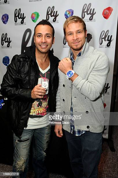 Howie Dorough and Brian Littrell of The Backstreet Boys at GBK Musical Lounge With Invited Nominees And Presenters Of The American Music Awards Day 1...