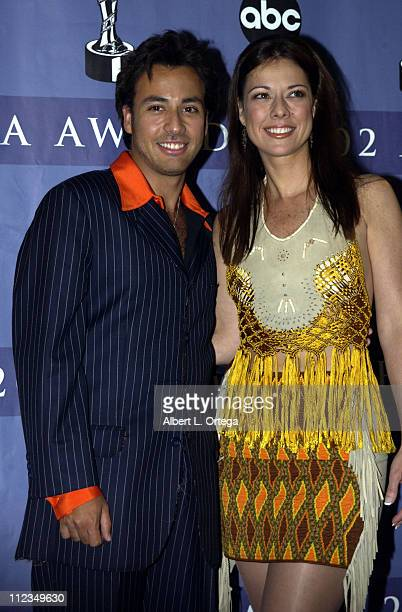 Howie Dorough and sister Pollyanna during 2002 ALMA Awards Gala Press Room at The Shrine Auditorium in Los Angeles California United States