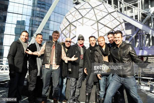 Howie Dorough Danny Wood Nick Carter AJ McLean Donnie Wahlberg Joey McIntyre Brian Littrell Jonathan Knight and Jordan Knight of New Kids On The...