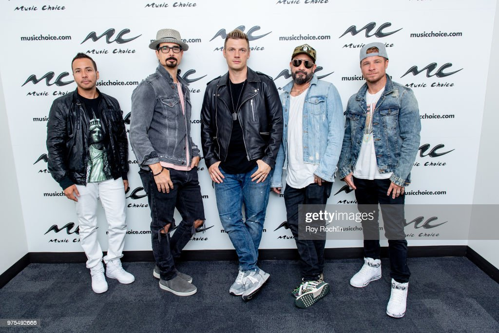 The Backstreet Boys Visit Music Choice : News Photo