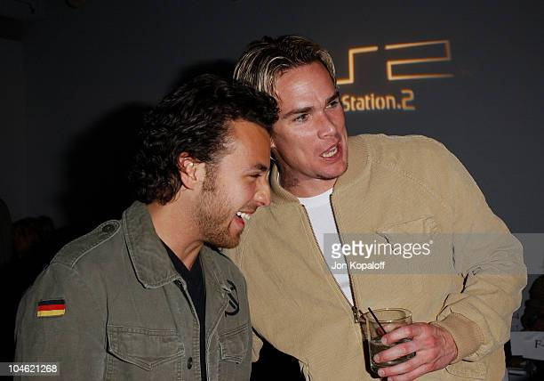 Howie Dorough Mark McGrath during Playstation 2 Hosts Shawn At LA Fashion WeekFashion Show and Party at The Standard Hotel Downtown in Los Angeles...