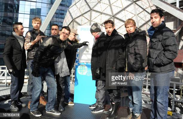 Howie Dorough Nick Carter Danny Wood Jordan Knight AJ McLean Donnie Wahlberg Joey McIntyre Brian Littrell and Jonathan Knight of New Kids On The...