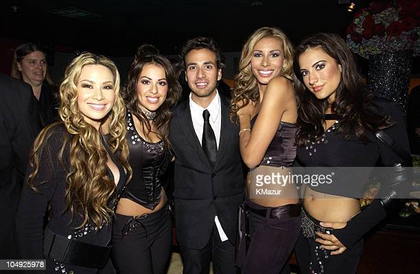 Howie Dorough of Backstreet Boys with Soluna during The 10th Annual Elton John AIDS Foundation InStyle Party Inside at Moomba Restaurant in Hollywood...