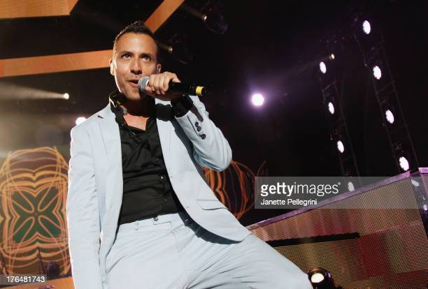Howie Dorough of the Backsteet Boys performs at Nikon at Jones Beach Theater on August 13 2013 in Wantagh New York