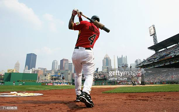 Howie Kendrick of the U.S.A. Team waits on deck during the XM Satellite Radio All-Star Futures Game against the World Team at PNC Park on July 9,...