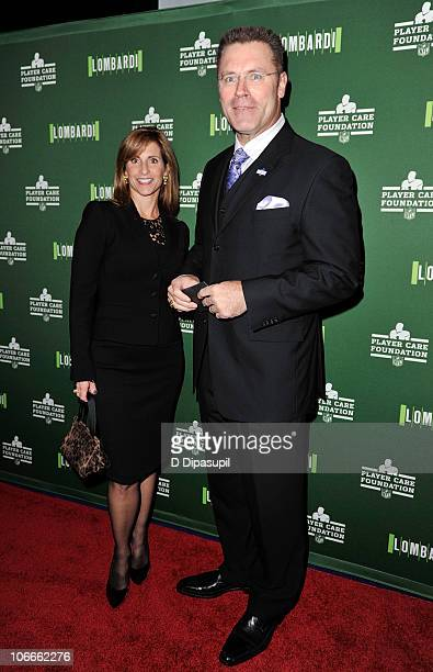 Howie Long and Diane Long attend a special performance of Lombardi during NFL Family Night at Circle in the Square on November 9 2010 in New York City