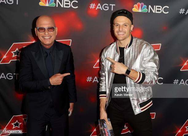 """Howie Mandel and Dustin Tavella attend """"America's Got Talent"""" Season 16 Finale at Dolby Theatre on September 15, 2021 in Hollywood, California."""