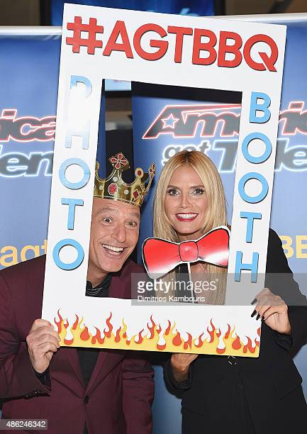 Howie Mandel and Heidi Klum attend 'America's Got Talent' Season 10 Live Viewing Party on September 2 2015 in New York City