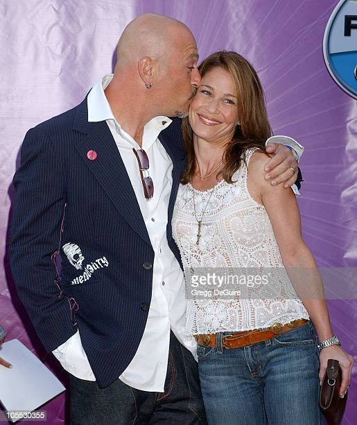 Howie Mandel and Julie Warner during 2005 NBC Network All Star Celebration Arrivals at Century Club in Los Angeles California United States