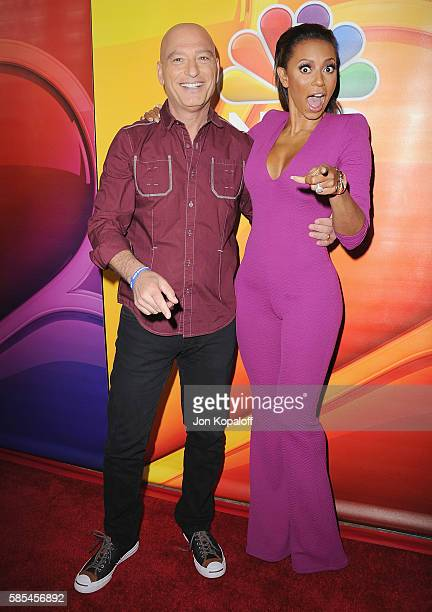 Howie Mandel and Melanie Brown arrive at the 2016 Summer TCA Tour - NBCUniversal Press Tour Day 1 at The Beverly Hilton Hotel on August 2, 2016 in...