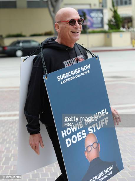 Howie Mandel arrives at an 'America's Got Talent' taping on April 23, 2021 in Los Angeles, California.