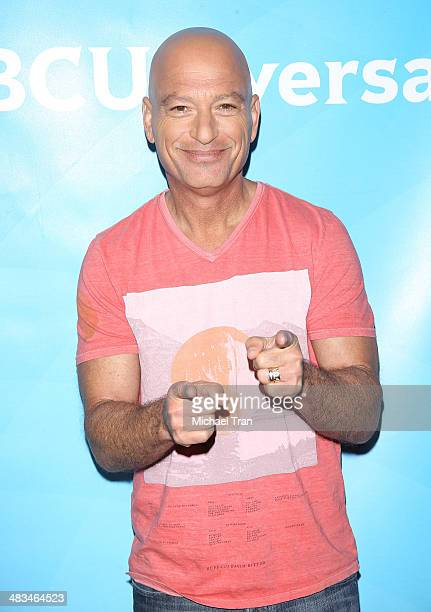 Howie Mandel arrives at the NBCUniversal's 2014 Summer Press Day held at Langham Hotel on April 8, 2014 in Pasadena, California.