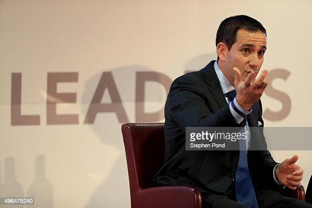 Howie Roseman EVP of Football Operations for the Philadelphia Eagles speaks during the Sporting Directors Forum on day one of the Leaders Sport...
