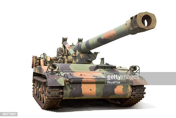howitzer - armored tank stock photos and pictures