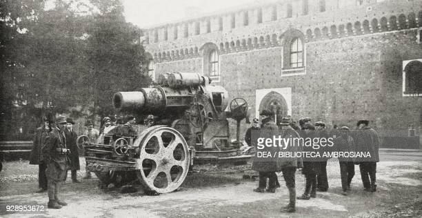 30517 howitzer used by the enemy during the First World War and exhibited as war trophy at the Sforza Castle in Milan Italy from the magazine...
