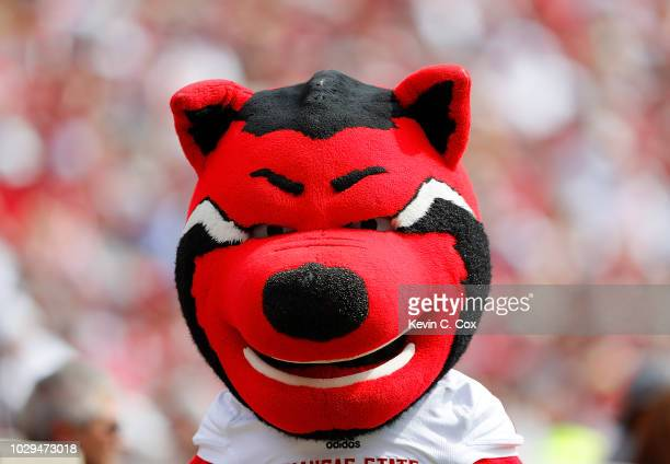 Howl mascot of the Arkansas State Red Wolves walks the sidelines during the game against the Alabama Crimson Tide at BryantDenny Stadium on September...