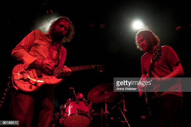 Howlin Rain's Ethan Miller and Joel Robinow perform at LA Weekly Presents: Akron/Family and Howlin Rain In Concert at El Rey Theatre on August 29,...