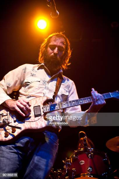 Howlin Rain's Ethan Miller performs at LA Weekly Presents: Akron/Family and Howlin Rain In Concert at El Rey Theatre on August 29, 2009 in Los...