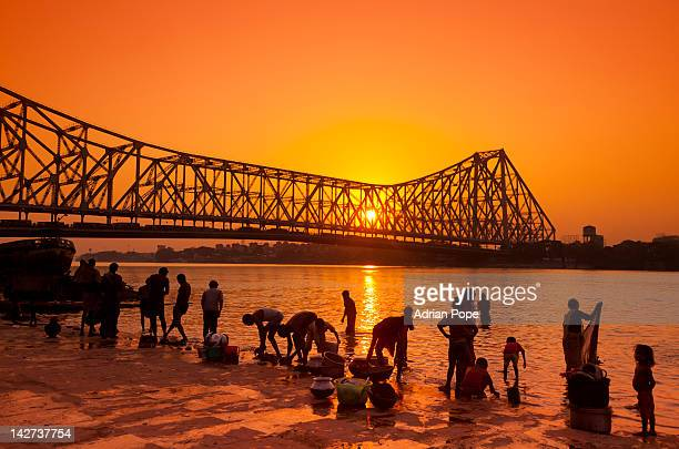 Howrah Bridge and Hooghly River
