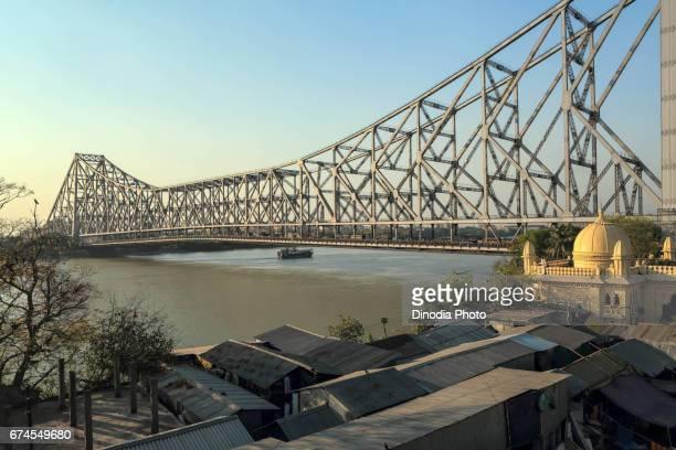 Howrah bridge, hooghly river, west bengal, india, asia