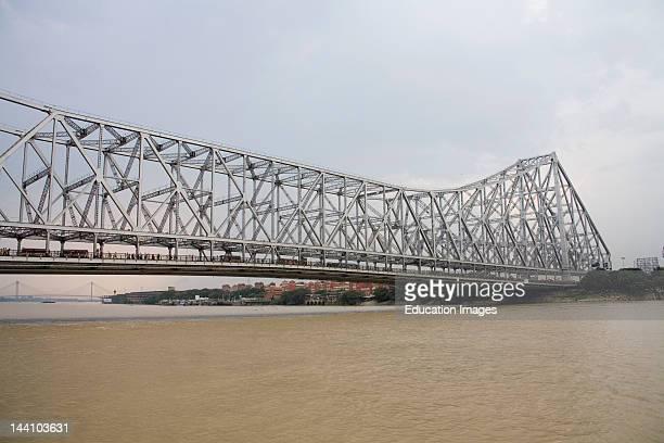 Howrah Bridge Now Rabindra Setu River Hooghly Calcutta Kolkata West Bengal India