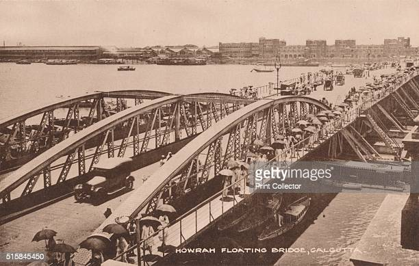 Howrah Floating Bridge Calcutta' 1905 Howrah Bridge a pontoon bridge over the Hooghly River in West Bengal India The Government of Bengal passed the...