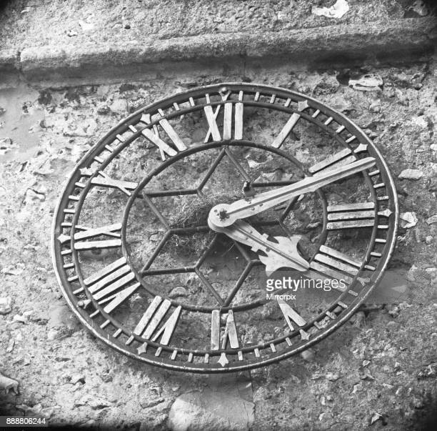 How's the bird line Birds believed to be House Sparrows have built their nest wrapped about the spindle that drives the hands of the church clock at...