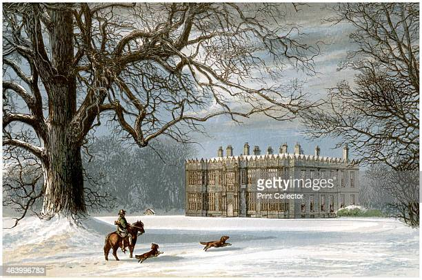 Howsham Hall Yorkshire home of the Cholmley family c1880 A print from A Series of Picturesque Views of Seats of the Noblemen and Gentlemen of Great...